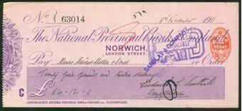 Picture of National Provincial Bank of England, Norwich, 19(11), type 11d