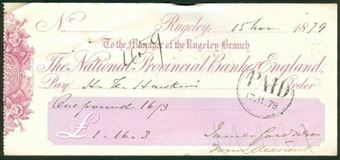 Picture of National Provincial Bank of England, Rugeley, 18(79), type 8a