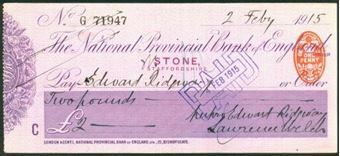 Picture of National Provincial Bank of England, Stone, 19(16), type 11d