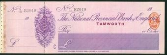 Picture of National Provincial Bank of England, Tamworth, 19(14), type 11d