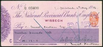 Picture of National Provincial Bank of England, Wisbech, 19(14), type 11d