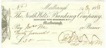 Picture of North Wilts Banking Co., Marlborough, Merrimans & Co., 18(66)