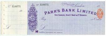 Picture of Parr's Bank Ltd., 1 Cavendish Square, London, Sir Samuel Scott Bart & Co., 19(08)