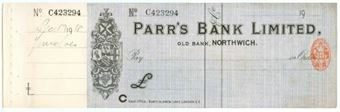 Picture of Parr's Bank Ltd., Old Bank, Northwich, 19(12)
