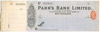 Picture of Parr's Bank Ltd., Whitehaven, The Whitehaven Joint Stock Bank Ltd., 191(4)