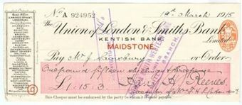 Picture of Union of London & Smiths Bank Limited, Maidstone, Kentish Bank, 19(15)