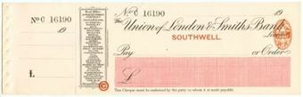 Picture of Union of London & Smiths Bank Limited, Southwell, 19(11)