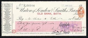 Picture of Union of London & Smiths Bank Ltd., Old Bank, Bath, 19(10)