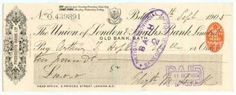 Picture of Union of London & Smiths Bank Ltd., Old Bank, Bath, Prescotts Bank Ltd., 190(6)