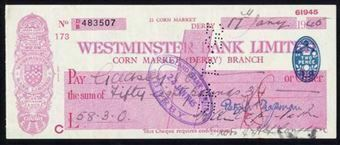 Picture of Westminster Bank Ltd.,  Corn Market (Derby), 19(44), type 3g