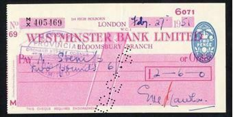 Picture of Westminster Bank Ltd., Bloomsbury, 19(51), type 10a