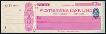 Picture of Westminster Bank Ltd., Bournemouth, 19(37), type 3a