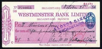 Picture of Westminster Bank Ltd., Broadstairs, 19(32), type 4