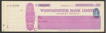 Picture of Westminster Bank Ltd., Bromley, 19(27), type 2a
