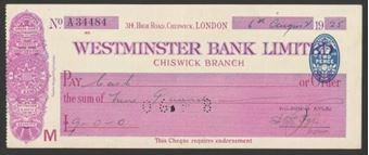 Picture of Westminster Bank Ltd., Chiswick, London, 19(25), type 2a