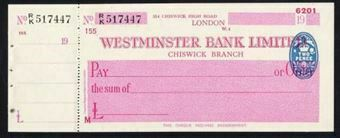 Picture of Westminster Bank Ltd., Chiswick, London, 19(45), type 8a
