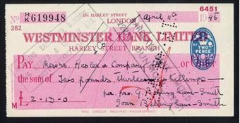 Picture of Westminster Bank Ltd., Harley Street, 19(45), type 8a