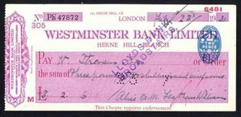 Picture of Westminster Bank Ltd., Herne Hill, 19(31), type 4