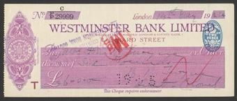 Picture of Westminster Bank Ltd., Inc. London & County Bank, London, Lombard Street, 19(24), type 1