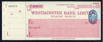 Picture of Westminster Bank Ltd., Kilburn, 19(44), type 7