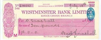 Picture of Westminster Bank Ltd., King's Cross, London, 19(35), type 3a