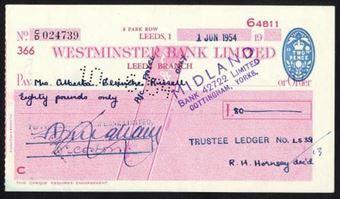 Picture of Westminster Bank Ltd., Leeds, 19(54), type10b