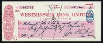 Picture of Westminster Bank Ltd., Liverpool, 19(31), type 3b