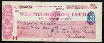 Picture of Westminster Bank Ltd., London, Brondesbury, 19(41), type 3c
