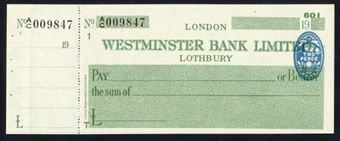 Picture of Westminster Bank Ltd., Lothbury, 19(45), type 8a