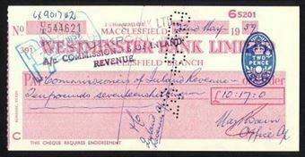 Picture of Westminster Bank Ltd., Macclesfield, 19(59), type 12d