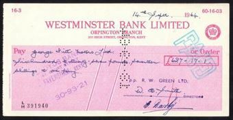 Picture of Westminster Bank Ltd., Orpington, 19(64), type 15a