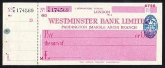 Picture of Westminster Bank Ltd., Paddington (Marble Arch), 19(46), type 8a