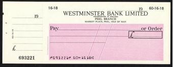 Picture of Westminster Bank Ltd., Peel, 19-- circa 1965, type 16a