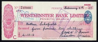 Picture of Westminster Bank Ltd., Penrith, 19(39), type 3b