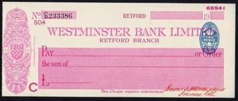 Picture of Westminster Bank Ltd., Retford, 19(36), type 3a