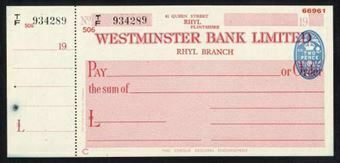Picture of Westminster Bank Ltd., Rhyl, 19(47), type 8d