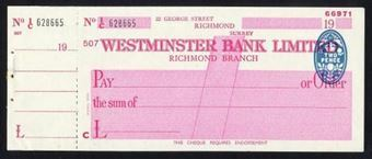 Picture of Westminster Bank Ltd., Richmond, 19(44), type 8e