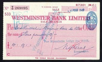 Picture of Westminster Bank Ltd., Sale, 19(47), type 8c