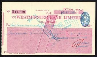 Picture of Westminster Bank Ltd., Sale, 19(49), type 11c