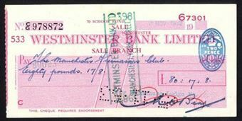 Picture of Westminster Bank Ltd., Sale, 19(53), type 10c