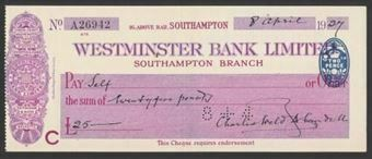 Picture of Westminster Bank Ltd., Southampton, 19(27), type 2a