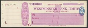 Picture of Westminster Bank Ltd., Southend-on-Sea, 19(25), type 2a