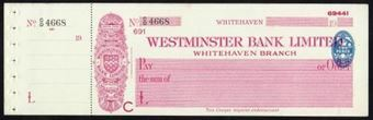 Picture of Westminster Bank Ltd., Whitehaven, 19(37), type 3b