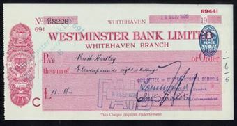 Picture of Westminster Bank Ltd., Whitehaven, 19(41), type 3b