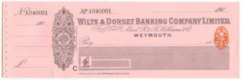 Picture of Wilts & Dorset Banking Co. Ltd., Weymouth, Messrs R & R Williams & Co., 190(9)