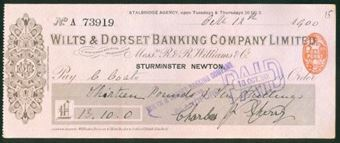 Picture of Wilts & Dorset Banking Company Ltd., inc R & R Williams & Co, Sturminster Newton, 1900