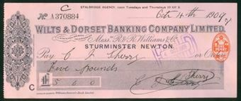 Picture of Wilts & Dorset Banking Company Ltd., inc R & R Williams & Co, Sturminster Newton, 1909-13
