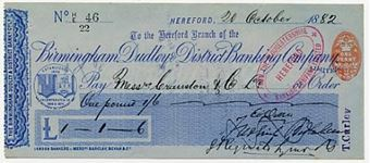 Picture of Birmingham, Dudley & District Banking Company Ltd., Hereford, 18(82)