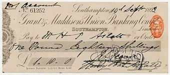 Picture of Grant & Maddison's Union Banking Co. Ltd., Southampton, 189(3)