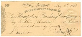 Picture of Hampshire Banking Company, Newport, Isle of Wight, 18(63)